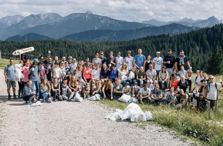 Mountain cleanup Burton